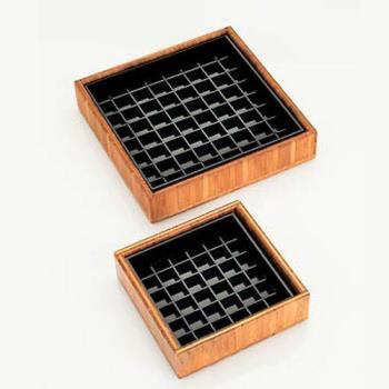 CLM330460 - Cal-Mil - 330-4-60 - 4 in x 4 in Bamboo Drip Tray Product Image