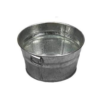 75693 - American Metalcraft - MTUB63 - 6 in x 3 in Galvanized Tub Product Image