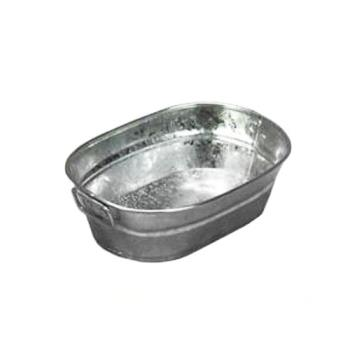 75748 - American Metalcraft - MTUB69 - 9 in x 6 in Oval Galvanized Tub Product Image