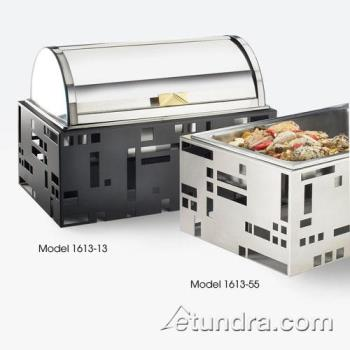 CLM161355 - Cal-Mil - 1613-55 - Squared Collection Chafer w/Stainless Base Product Image