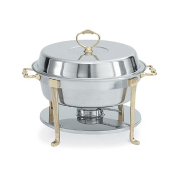 VOL46030 - Vollrath - 46030 - Classic Brass 5.8 Qt Round Chafer Product Image