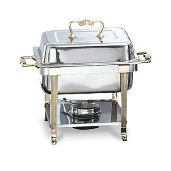 VOL46035 - Vollrath - 46035 - Classic Brass 4.1 Qt Rectangular Chafer Product Image