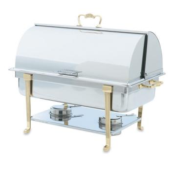 VOL46051 - Vollrath - 46051 - Classic Brass 9 Qt Roll Top Rectangular Chafer Product Image