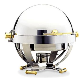 WAL54130G - Walco - 54130G - Satellite™ 6 Qt Roll Top Chafer w/ Gold Accents Product Image