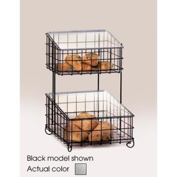 CLM120349 - Cal-Mil - 1203-49 - 2-Tier Chrome Bin Merchandiser Product Image