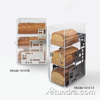 CLM161455 - Cal-Mil - 1614-55 - 3-Bin Stainless Steel Bread Box Product Image