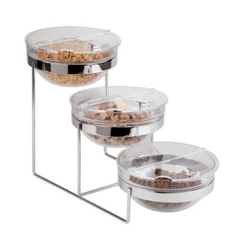 WOR4144203 - World Cuisine - 41442-03 - 3-Tier Chrome Plated Bowl Stand Product Image