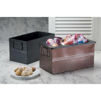 AMMBEVB6612 - American Metalcraft - BEVB6612 - Third Size Rectangular Hammered Black Tub Product Image