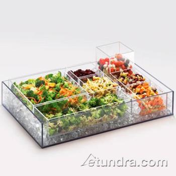 CLM139612 - Cal-Mil - 1396-12 - Cater Choice 15 in x 5 in x 3 in Acrylic Tray Product Image