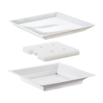 64848 - Cal-Mil - 3063 - 11 in White Cold Concept Plate Set Product Image
