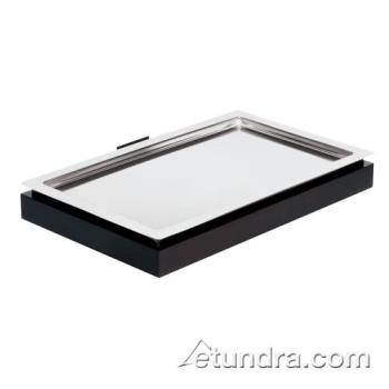 WOR4246000 - World Cuisine - 42460-00 - Full Size Stainless Cool Plate w/Wenge Wood Base Product Image