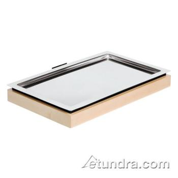 WOR4247000 - World Cuisine - 42470-00 - Full Size Stainless Cool Plate w/Maple Base Product Image