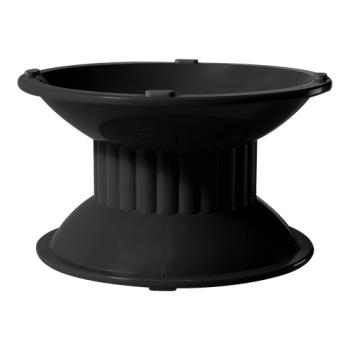 GETML107BK - GET Enterprises - ML-107-BK - Siciliano Black 3 in H Pedestal Product Image