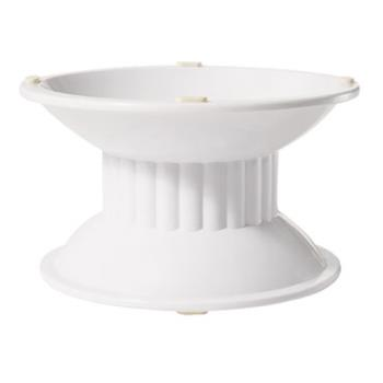 GETML107W - GET Enterprises - ML-107-W - Siciliano White 3 in H Pedestal Product Image