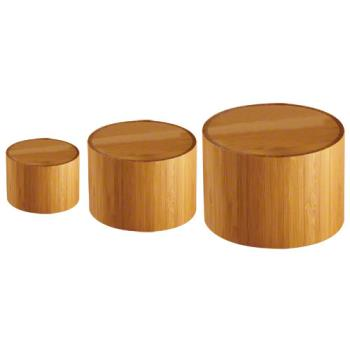 AMMRBRS3 - American Metalcraft - RBRS3 - Round Bamboo Riser Set Product Image