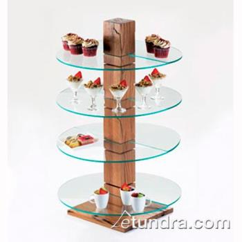 CLM831RD - Cal-Mil - 831-RD - 19 3/4 in x 10 in Glass Pillar Shelf Product Image