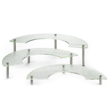 TABA11 - Tablecraft - A11 - 3 Piece Crystal Display Riser Set Product Image