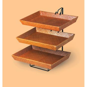 CLM12903 - Cal-Mil - 1290-3 - 3-Tier Bamboo Tray Merchandiser Product Image