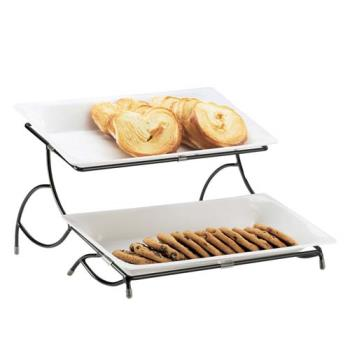 CLM140515 - Cal-Mil - 1405-15 - 2-Tier White Tray Stand Product Image