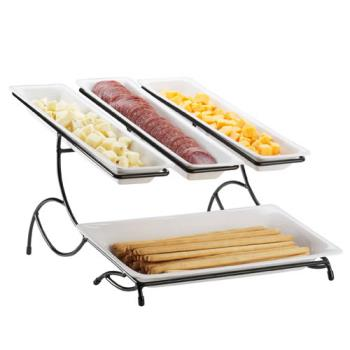 CLM140615 - Cal-Mil - 1406-15 - 2-Tier White Tray Stand Product Image