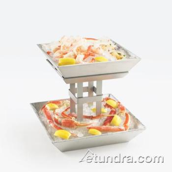 Cal mil 1563 2 2 tier aluminum ice display etundra for Dining room equipment