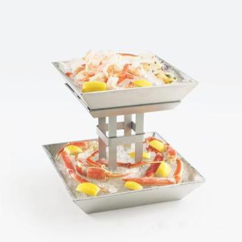 CLM15632 - Cal-Mil - 1563-2 - 2-Tier Aluminum Ice Display Product Image