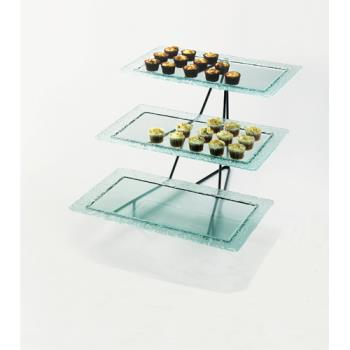 CLM171013 - Cal-Mil - 1710-13 - 3-Tier Glass Tray Stand Product Image