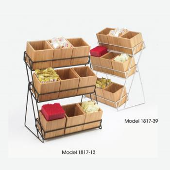 CLM181713 - Cal-Mil - 1817-13 - 3-Tier Black 4 in Jar Display Product Image