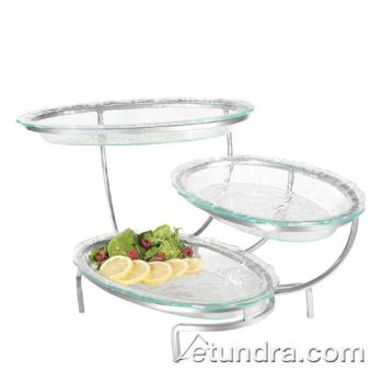 GMDGL1400G - Cal-Mil - GL1400-G - 3-Tier Strata Stand w/Oval Green Tint Acrylic Platters Product Image