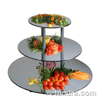 GMDMT240 - Cal-Mil - MT240 - 3-Level Small Round Tier w/Reversible Acrylic Mirror Trays Product Image