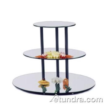 GMDMT302 - Cal-Mil - MT302 - 3-Level Large Oval Tier w/Reversible Acrylic Mirror Trays Product Image