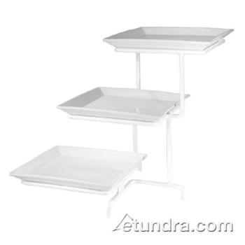 GMDSR2301 - Cal-Mil - SR2301 - 3-Tier Strata In-Line Stand w/White Square Melamine Platters Product Image