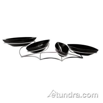 WOR41868K01 - World Cuisine - 41868K01 - Modern Buffet Display w/4 Black Bowls Product Image