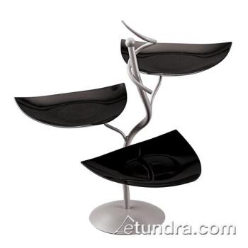 WOR41868K05 - World Cuisine - 41868K05 - 3-Tier Display Stand w/Black Scoop Dishes Product Image