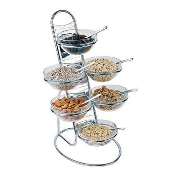 WOR4191204 - World Cuisine - 41912-04 - 4-Tier Ladder and Medium 6-Bowl Set Product Image
