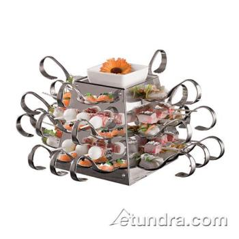 "WOR4298801 - World Cuisine - 42988-01 - 10 5/8"" Stainless Pyramid Display Product Image"