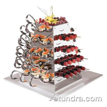 "WOR4298802 - World Cuisine - 42988-02 - 12 1/8"" Stainless Swiveling Pyramid Server Product Image"