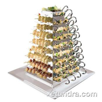 "WOR4298803 - World Cuisine - 42988-03 - 20 7/8"" Stainless Swiveling Pyramid Server Product Image"
