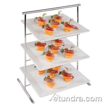 "WOR4484002 - World Cuisine - 44840-02 - 8 1/4"" x 13"" 3-Tier Chromed Steel Stand Product Image"