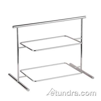 "WOR4484004 - World Cuisine - 44840-04 - 10 5/8"" x 24 7/8"" 2-Tier Chromed Steel Stand Product Image"