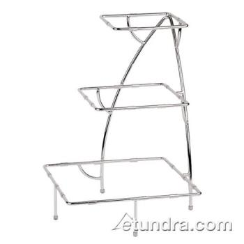 "WOR4484005 - World Cuisine - 44840-05 - 14 7/8"" x 14 7/8"" 3-Tier Chromed Steel Stand Product Image"