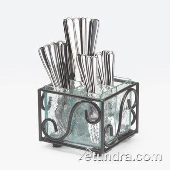 CLMH35013 - Cal-Mil - H350-13 - 4 Section Glass Flatware Holder Product Image