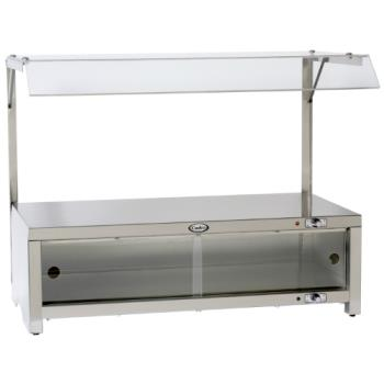 CDOCMLWCSG - Cadco - CMLW-CSG - Warming Cabinet With Sneeze Guard And Warming Shelf Top Product Image