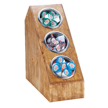 CLM3423399 - Cal-Mil - 3423-3-99 - 3-Tier Reclaimed Wood Countertop Organizer Product Image