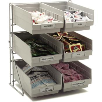 CFS381206LG - Carlisle - 381206LG - 6-Compartment Condiment Organizer Product Image