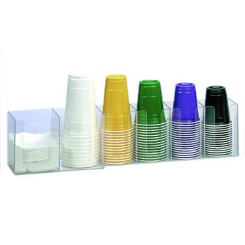 DRMCTHL6 - Dispense-Rite - CTHL-6 - Six Section Countertop Horizontal Lid Organizer Product Image