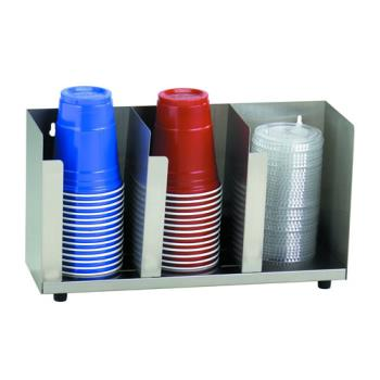 DRMCTLD15 - Dispense-Rite - CTLD-15 - Three Section Stainless Steel Cup And Lid Organizer Product Image