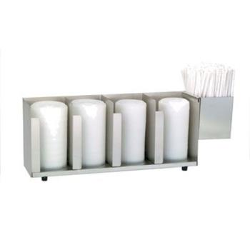 DRMCTLD19A - Dispense-Rite - CTLD-19A - Four Section S/S Cup And Lid Organizer Product Image