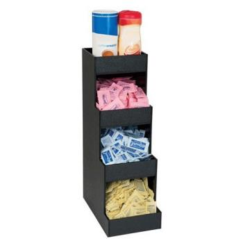 DRMCTVH4BT - Dispense-Rite - CTVH-4BT - Four Section Countertop Condiment Organizer Product Image