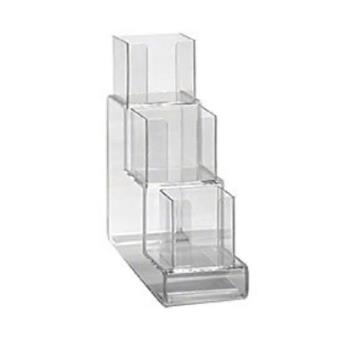 DRMCTVL3 - Dispense-Rite - CTVL-3 - Three Section Countertop Vertical Lid Organizer Product Image